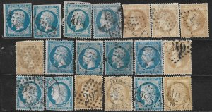 COLLECTION LOT OF 19 FRANCE 1853+ STAMPS CLEARANCE