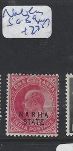 INDIA  NABHA  (P2909B)  KG   1A  SG  39      MOG