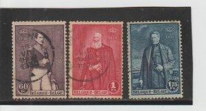 Belgium  Scott#  218-220  Used  (1930 Belgian Independence)