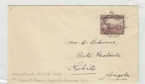 South West Africa Germany 1939 1 1/2d Windhoek Cover To Angola J5368