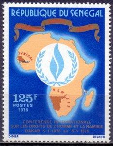 Senegal. 1976. 579. Human rights. MNH.