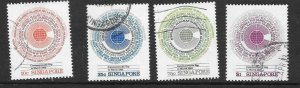 SINGAPORE SG443/6 1983 COMMONWEALTH DAY USED