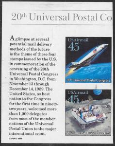 US C126a & C126c Used - 20th UPU Congress - Future Mail Delivery