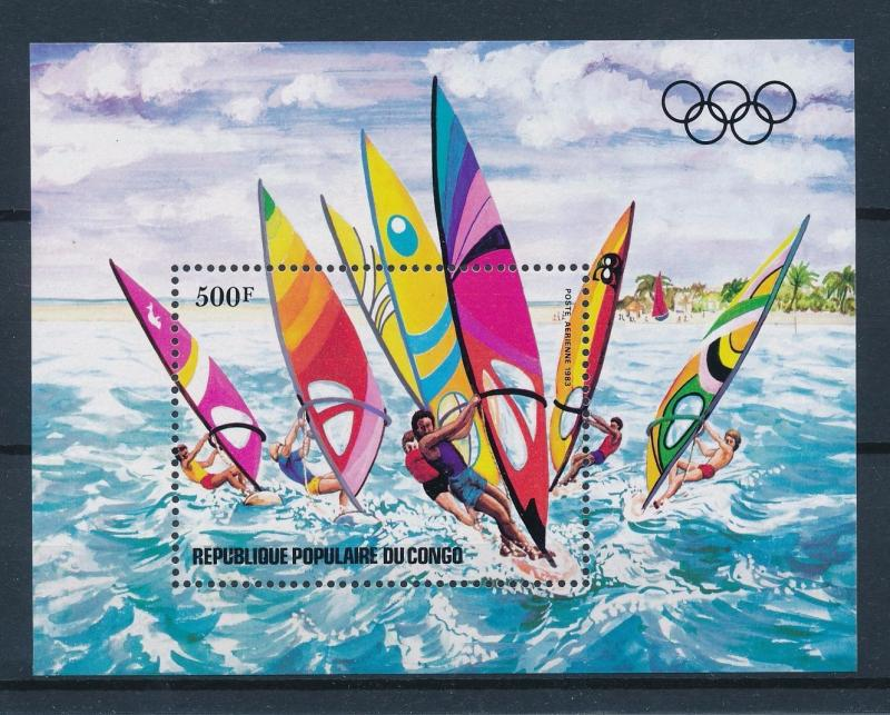 [55369] Congo Brazzaville 1983 Olympic games Wind surfing MNH Sheet