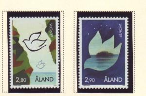 Aland Sc  114-5 1995 Europa stamp set mint NH