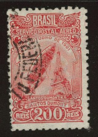 Brazil Scott C33 used 1934 airmail stamp wmk 222