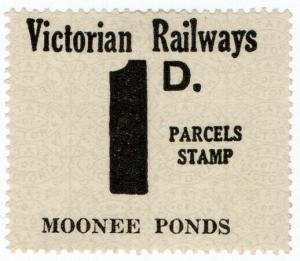 (I.B) Australia - Victoria Railways : Parcel Stamp 1d (Moonee Ponds)