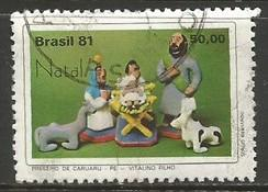 BRAZIL 1770 VFU CHRISTMA I012-4