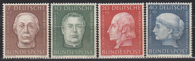 Germany - 1954 Famous German Sc# B338/B341 MNH - (1285)
