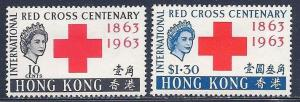 Hong Kong SC#219-220, Red Cross 1963 Mint