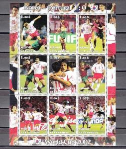 Isle of Freedom, 2002 Cinderella issue. World Cup Soccer, Portugese Team.