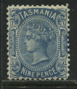 Tasmania 1905 QV 9d blue mint o.g.