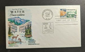 1960 Water Conservation Fluegel Cachet FDC Cover Wahington DC