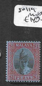 MALAYA PERAK (PP0110B)  SULTAN $1.00  SG 119  MOG