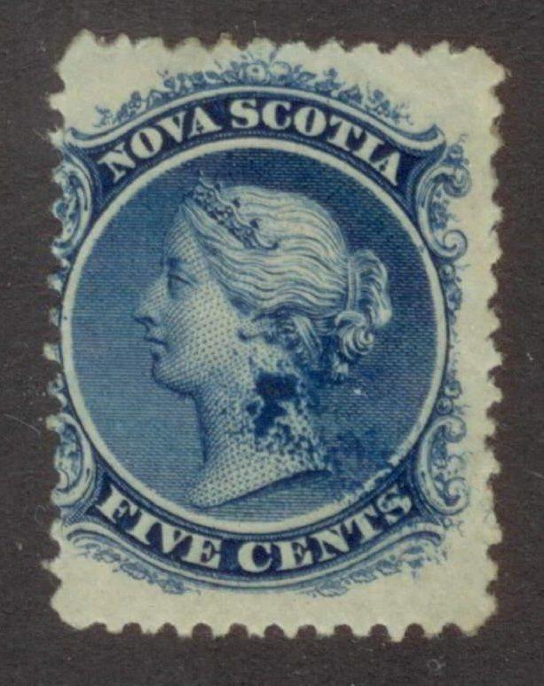NOVA SCOTIA  #10  MINT   VF   OG   AMAZING INK SMUDGE ON NECK!   VARIETY