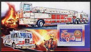 Guinea MNH S/S American Fire Engines 2006