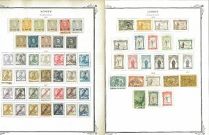 Azores 1868-1931 M&U hinged on Scott Specialty Pages