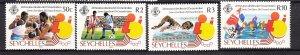 J28185 1985 seychelles set mh #572-5 sports