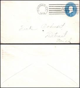 Goldpath: US postal stationery  1894, CHICAGO, ILL.  _CV23_P6