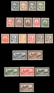 TUNISIA 1931-1934 COMPLETE SCENIC SET MINT #122-142 and CV$160.05 Maury @ €...