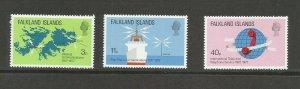Falkland Islands 1977 Telecommunications Unmounted Mint Set SG 328/30
