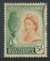 Southern Rhodesia SG 89 VFU lovely colour and centering