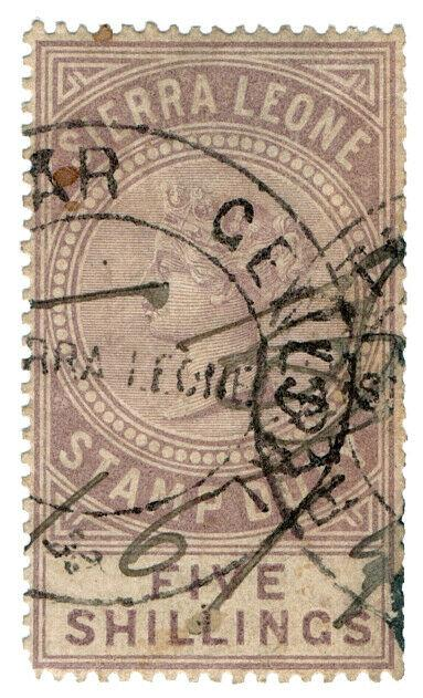 (I.B) Sierra Leone Revenue : Stamp Duty 5/-