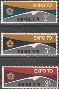 Malta #417-9  MNH VF  (V2977)