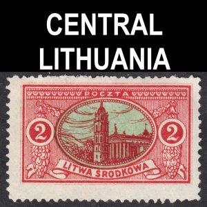 Central Lithuania Scott 36 perf 13 1/2 F+ unused no gum.