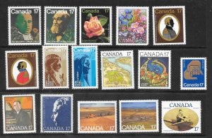 Canada Mint NH Lot of 24 Different 17 cent Stamps  Face Value $4.08