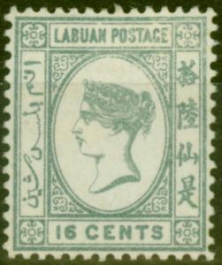Labuan 1894 16c Grey SG56 Mounted Mint Fine