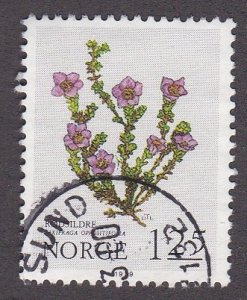Norway # 756, Mountain Flowers,  Used,