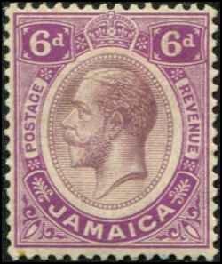 Jamaica SC# 67a SG# 64 George V 6d MNH  wmk 3