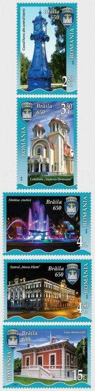 stamps Romania 2018 - Braila, 650 Years of Documentary Attestation - Set