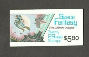 BK207 Space Fantasy Booklet Of 20 Mint/nh FREE SHIPPING