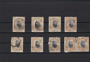 tonga 1897 2 penny variants used  stamps ref r12475