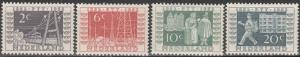 Netherlands #332-5  F-VF Unused CV $9.60