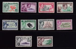 PITCAIRN ISLANDS  1940  S G 1 - 8  SET OF 10  MH CAT £75