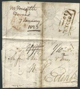 GB SCOTLAND 1823 cover FORRES to Edinburgh.................................41903