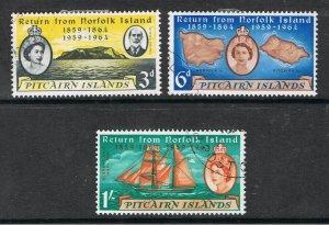 PITCAIRN ISLANDS 1961 RETURN FROM NORFOLK