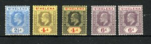 St Helena 1908-11 values to 6d + ordinary paper issues MLH/MH