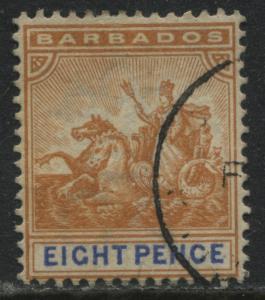 Barbados QV 1892 8d used