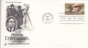 1975, Honoring D. W. Griffith, Art Craft, FDC (E10917)