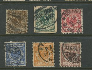 STAMP STATION PERTH Germany #46-51 General Issue Used 1889 See scan