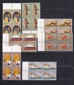 Australia 532-538 Blocks Set MNH Pioneer Life (E)