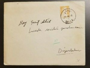 1948 Carsi Sivas Turkey Cover to Diyarbakir With Contents