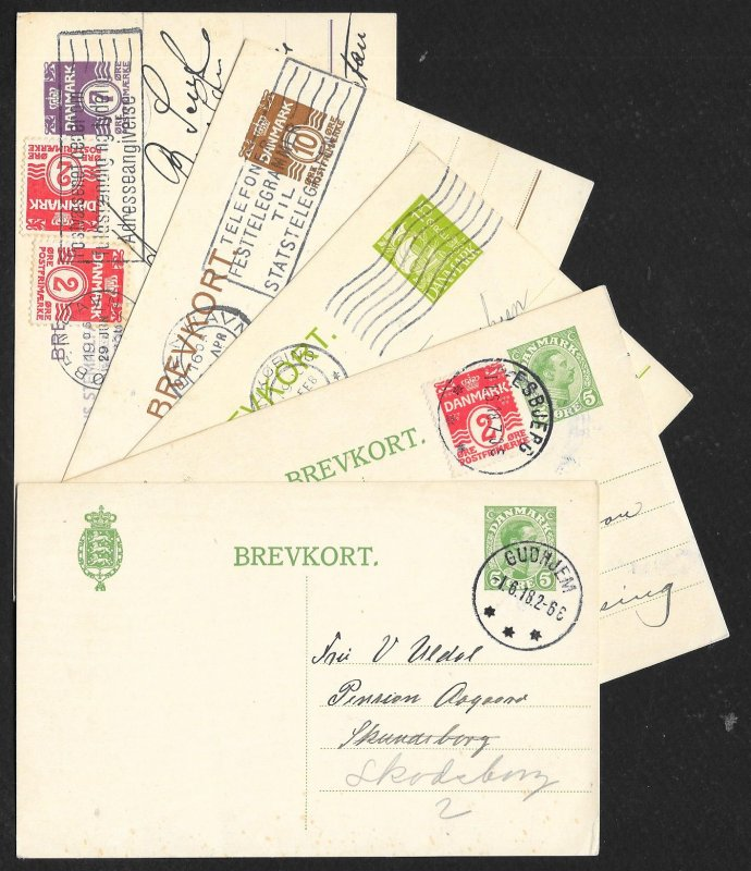 DENMARK (107) Early Old Postal Cards mostly postally used few Mint c1875-1950
