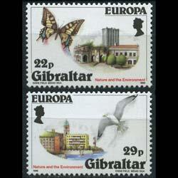 GIBRALTAR 1986 - Scott# 483-4 Europa-Nature Set of 2 NH