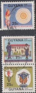 Guyana #823a,b.c Used