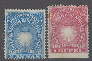 COLLECTION LOT # 1991 BRITISH EAST AFRICA #23+25 1890